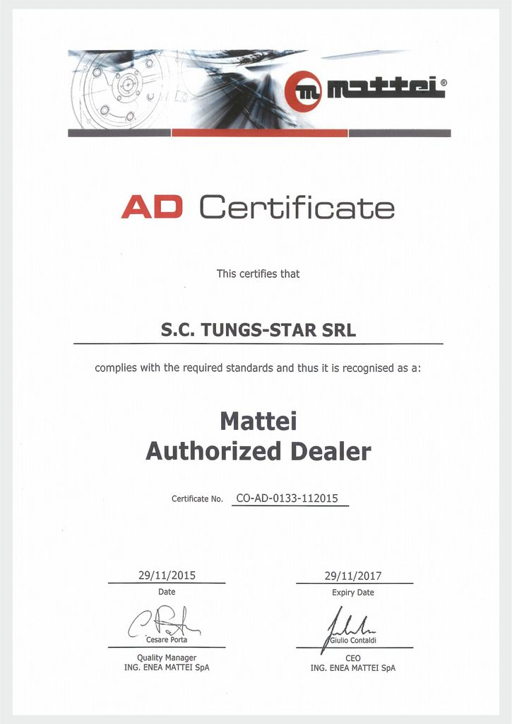 MATTEI DEALER Authorization